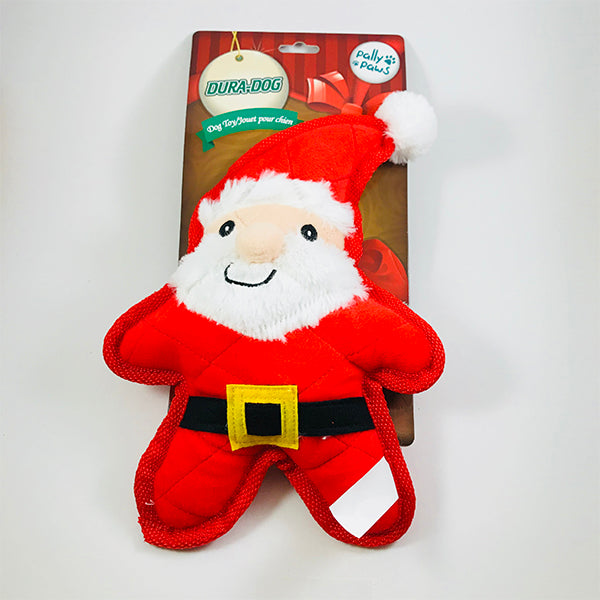Santa Paws Durable Plush Squeak Toy