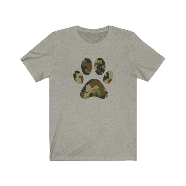 Army Camo Paw Print Jersey Knit T-Shirt - 6 Colors