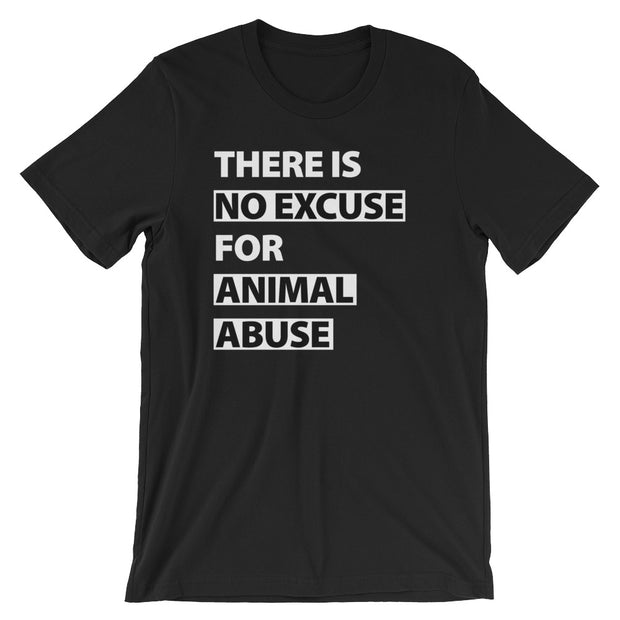 There's No Excuse Unisex Jersey Knit T-Shirt - Black