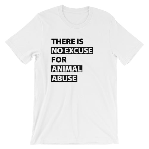 There's No Excuse Unisex Jersey Knit T-Shirt - White