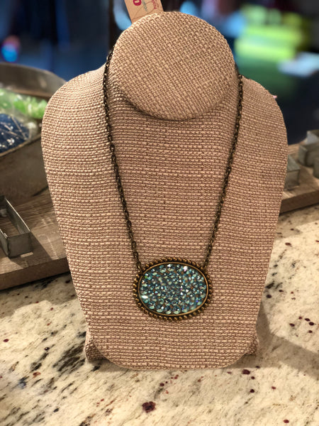 Turquoise Oval Necklace