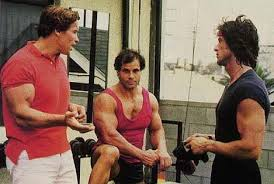 Arnold Schwarzenegger, Sly and Franco Columbu