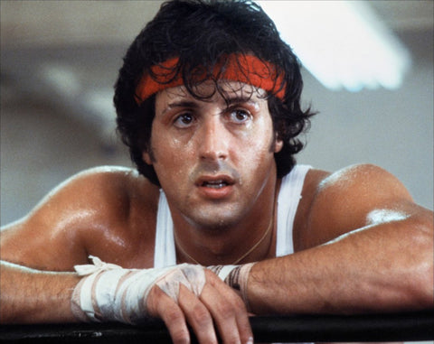 Sylvester Stallone and Bodybuilding, image from his role as Rocky