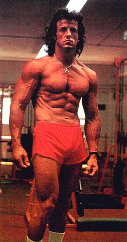Sylvester Stallone looking like a bodybuilder