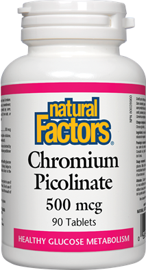 Natural Factors  Natural Factors Chromium Picolinate 500 mcg (90 tabs)
