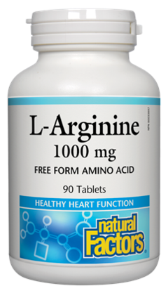 Natural Factors  Natural Factors L-Arginine 1000 mg (90 tabs)