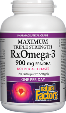 Natural Factors  Natural Factors Maximum Triple Strength RxOMEGA-3 (150 softgels)