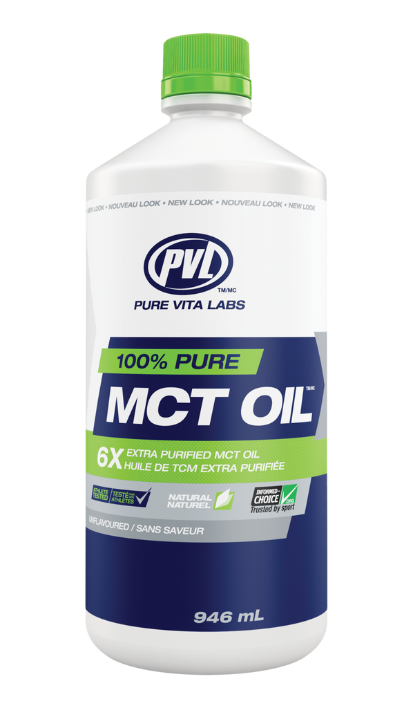 PVL  Pure Vita Labs 100% Pure MCT Oil (1000 ml)