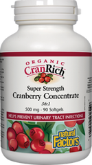 Natural Factors Cranrich Organic Super Strength Cranberry Concentrate 36:1 (90 softgels)