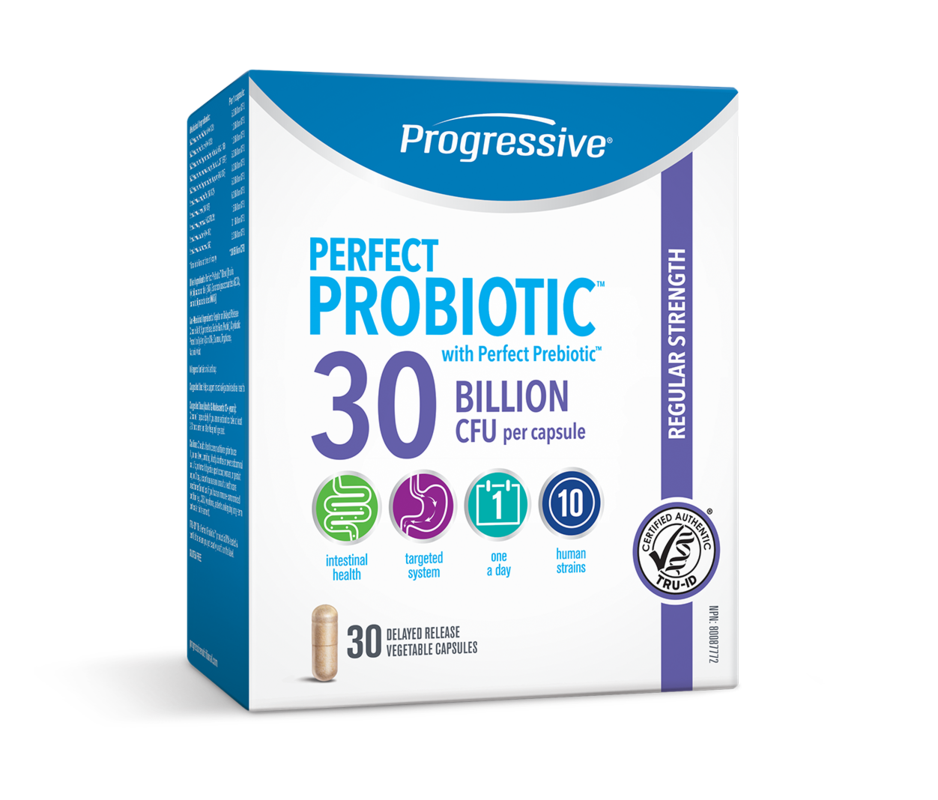Progressive Nutritional  Progressive Perfect Probiotic Regular Strength 30 Billion CFU (30 caps)