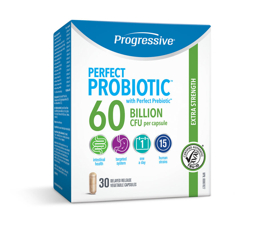 Progressive Nutritional  Progressive Perfect Probiotic Extra Strength 60 Billion CFU (30 caps)