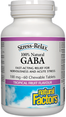 Natural Factors Stress-Relax GABA - Tropical Fruit Flavour (60 tabs)