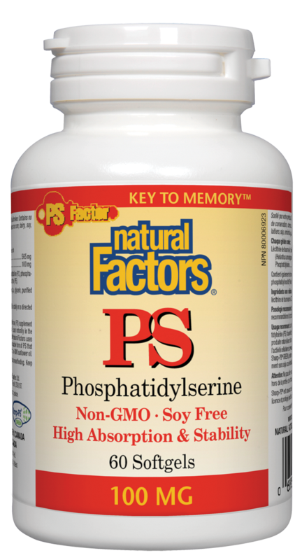 Natural Factors  Natural Factors PS - Phosphatidylserine (60 caps)