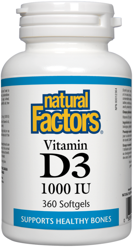 Natural Factors  Natural Factors Vitamin D3 1000 IU (360 Softgels)