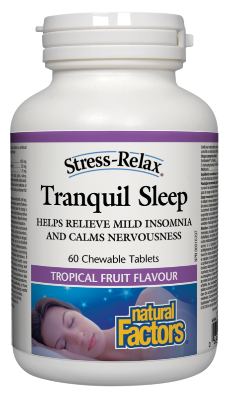 Natural Factors  Natural Factors Stress-Relax Tranquil Sleep (60 Chewable Tablets)