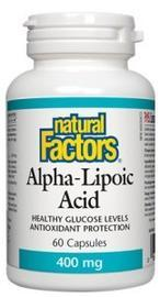 Natural Factors  Natural Factors Alpha Lipoic Acid 400 mg (60 caps)