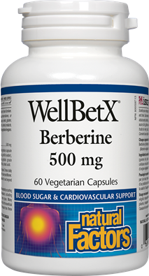 Natural Factors Natural Factors Natural Factors WellBetX Berberine 500mg (60 caps)