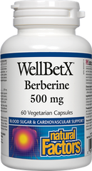 Natural Factors WellBetX Berberine 500mg (60 caps)