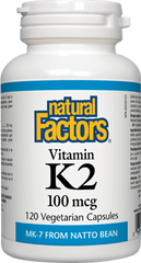 Natural Factors Vitamin K2 (120 caps)