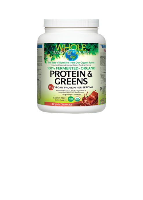 Natural Factors  Whole Earth and Sea Fermented Organic Protein and Greens Organic (710g)