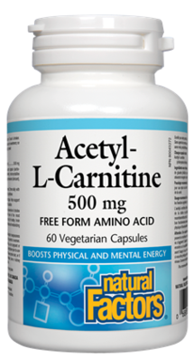 Natural Factors  Natural Factors Acetyl-L-Carnitine 500 mg (60 caps)