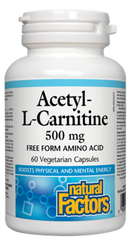 Natural Factors Acetyl-L-Carnitine 500 mg (60 caps)
