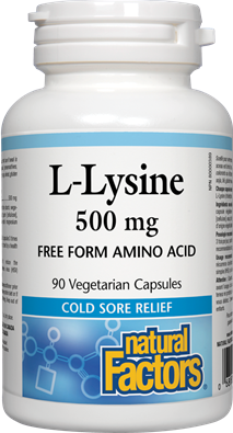 Natural Factors  Natural Factors L-Lysine 500 mg (90 caps)