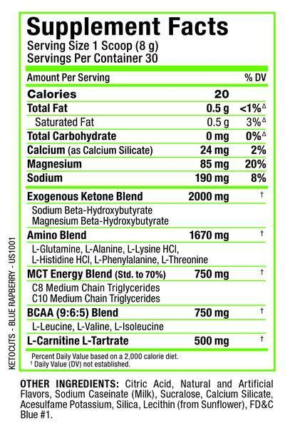 Ingredients for Allmax Nutrition Keto Cuts (30 serving)
