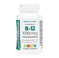 B-12 1000mcg + Folic Acid (90 tablets)