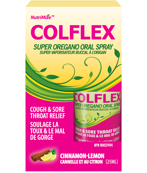 Innotech  COLFLEX Oregano, Thyme, Vitamin D3 Oral Spray (25 ml)