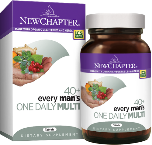 New Chapter MultiVitamins & Minerals Every Man's 40+ One Daily (48 tablets)