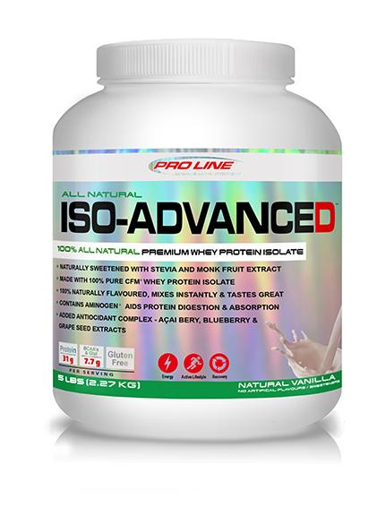 Proline Advanced Nutrition Whey Isolate ALL NATURAL ISO-ADVANCED (5LB)