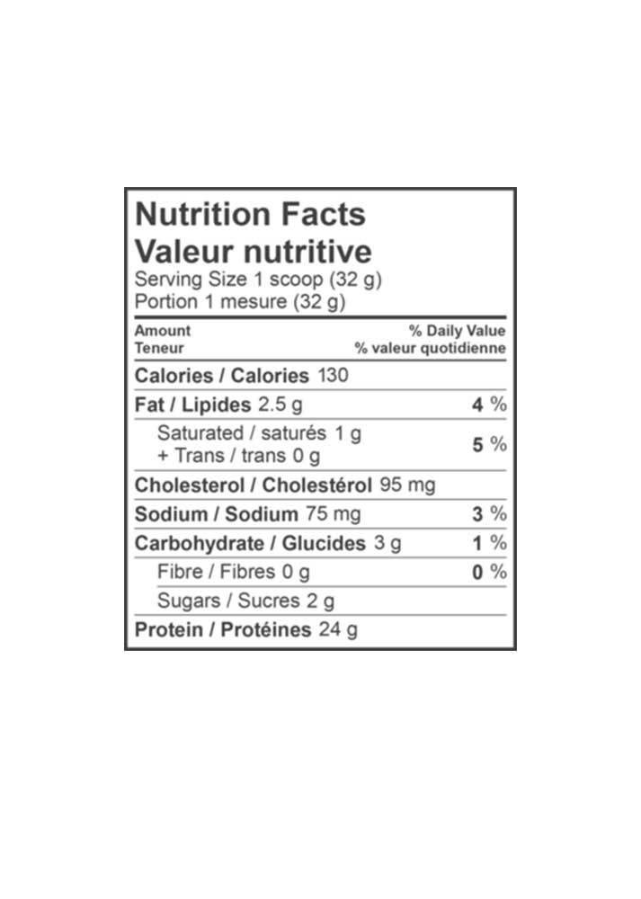 Ingredients for VEGAN PROTEIN (840G)