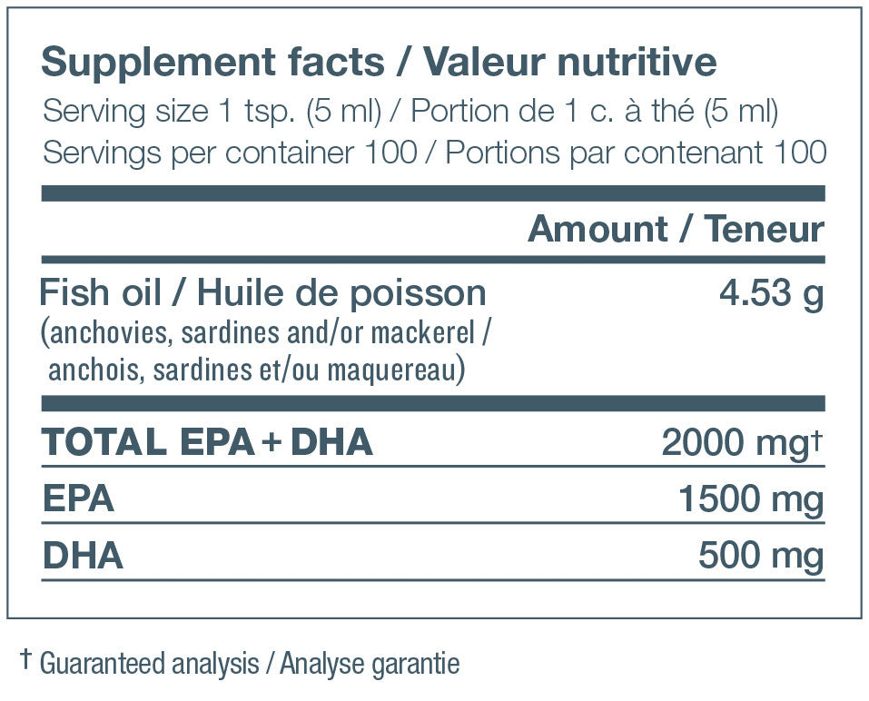Ingredients for NutraSea HP (500mL)