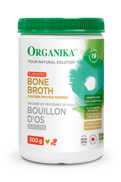 organika  Organika CHICKEN BONE BROTH PROTEIN POWDER – TURMERIC (300g)