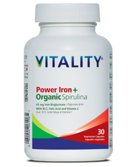 Power Iron + Organic Spirulina (30 tabs)