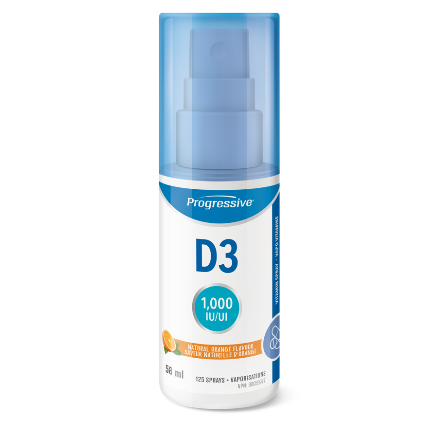 Progressive Nutritional  Vitamin D3 Spray (125 Sprays)