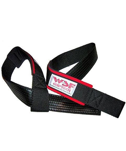 World Standard Fitness  Griptech Rubberized Lifting Straps (Padded)