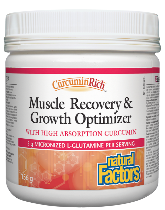 Natural Factors  Natural Factors Curcumin Rich Muscle Recovery & Growth Optimizer (156g)