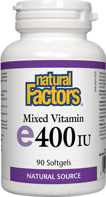 Natural Factors  Natural Factors Vitamin E Mixed 400 IU (90 Softgels)