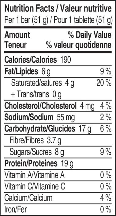 Ingredients for Bounty Protein Bar (box of 18)