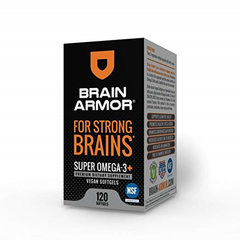 Brain Armor Adult Super Omega-3+ Vegan Liquid Concentrate (120 Softgels)