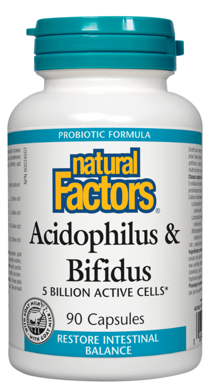 Natural Factors  Natural Factors Acidophilus & Bifidus (90 caps)