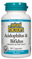Natural Factors Acidophilus & Bifidus (90 caps)