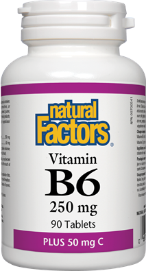 Natural Factors  Natural Factors VItamin B6 250 mg (90 tabs)