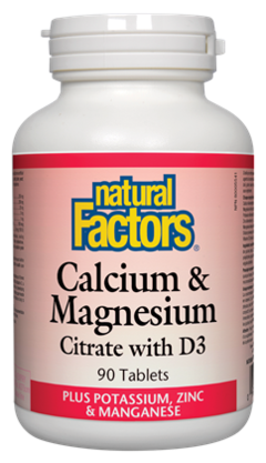 Natural Factors  Natural Factors Calcium & Magnesium Citrate with D3 (90 tabs)