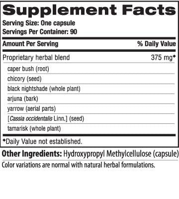 Ingredients for LiverCare (90 caps)