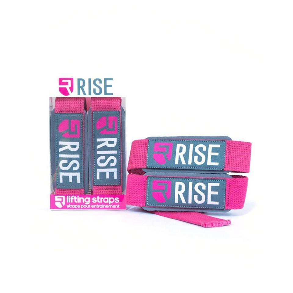 rise Lifting Gear WOMEN'S LIFTING STRAPS – PINK