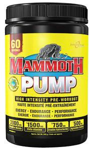 Mammoth Supplements  Mammoth Pump (60 Servings)