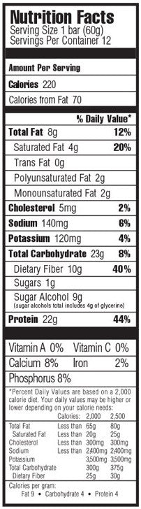 Ingredients for OhYeah! One Protein Bars (12-bar Box)